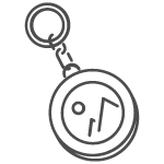 graphic of keychain coin