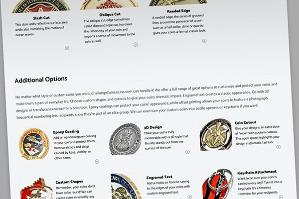 choosing coin design options