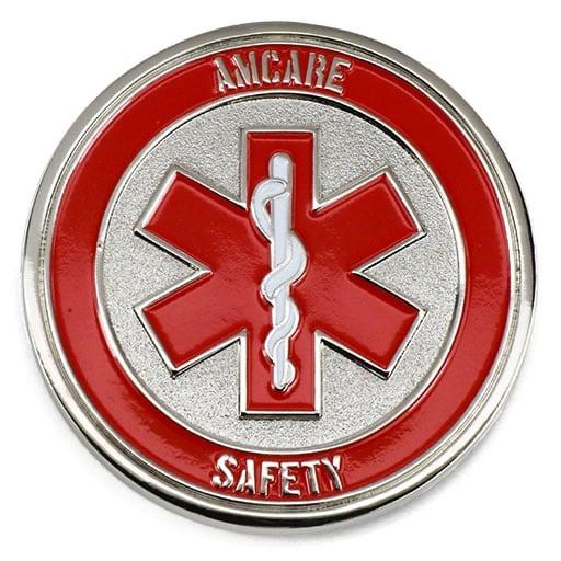 Amcare Saftey Medical Symbol Polished Silver