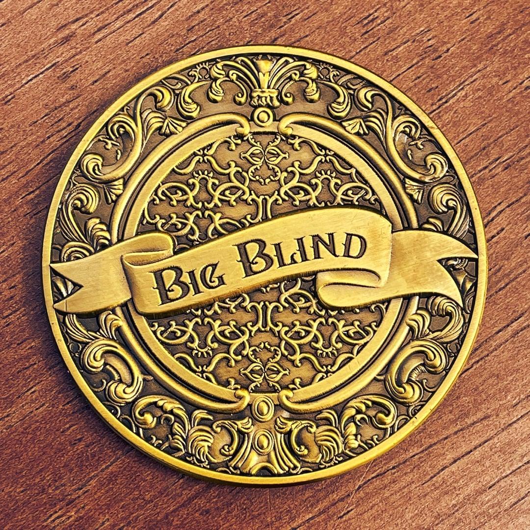 Hp Lovecraft Big Blind Intricate Details Antique Gold