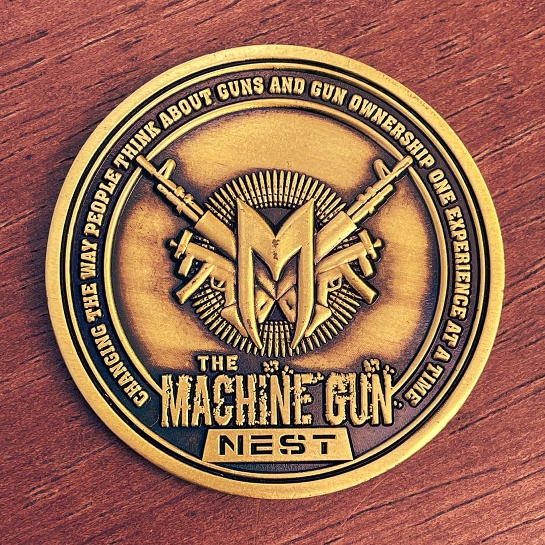 Machine Gun Nest Guns Ammo Antique Gold