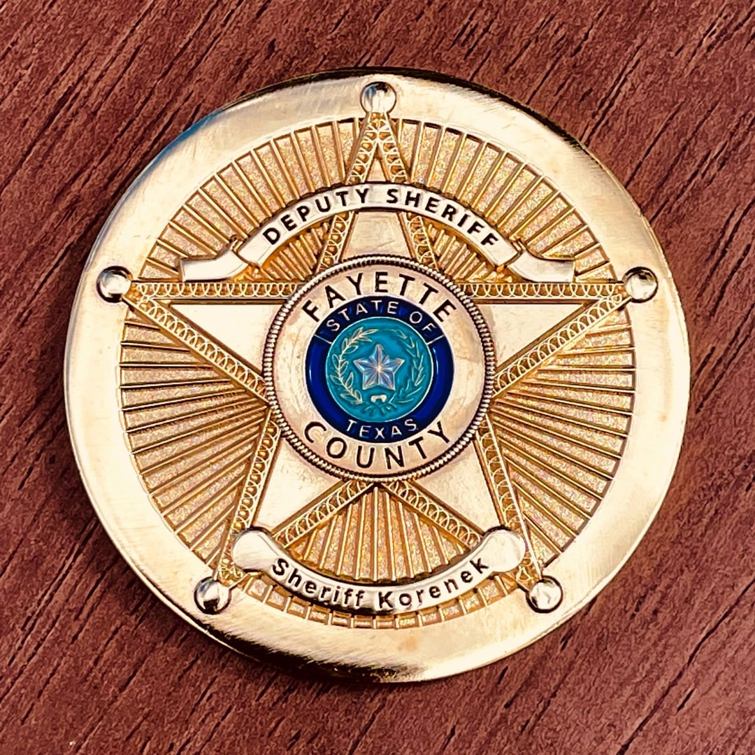 Sheriff Korenek Star Badge Polished Gold