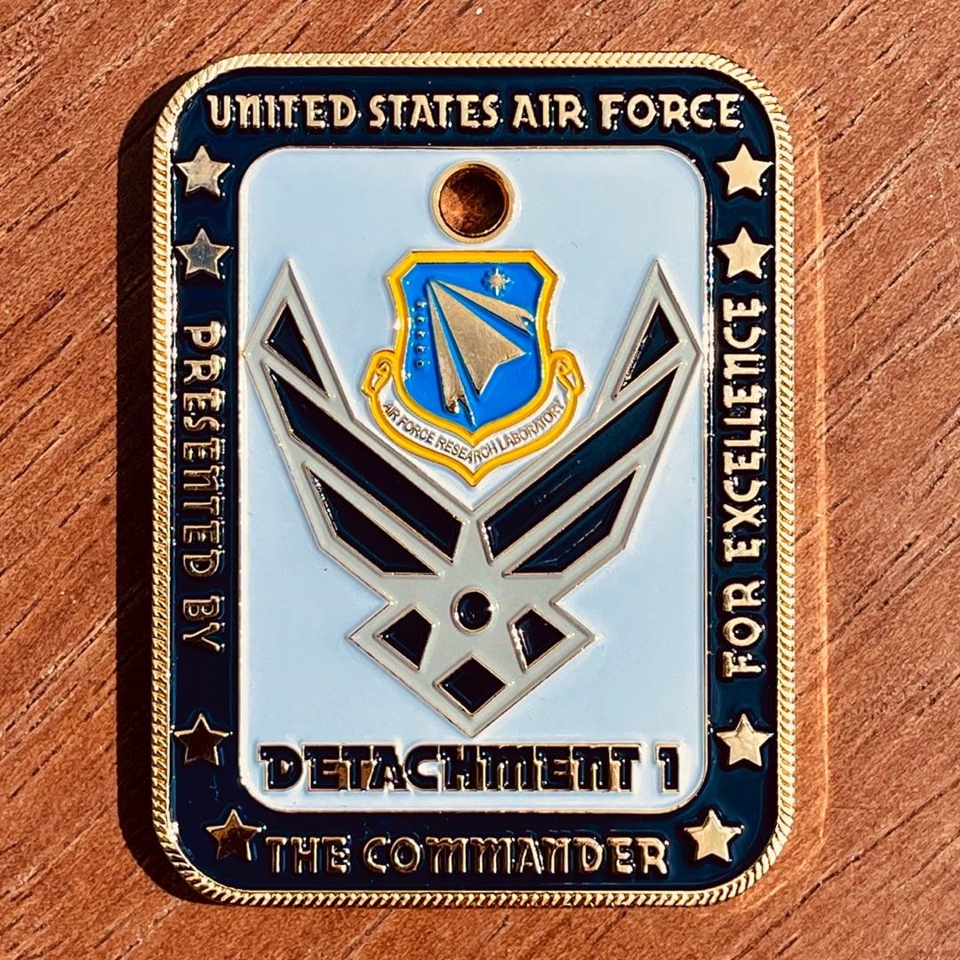 Us Air Force Detachment 1 Polished Gold Rope Edge