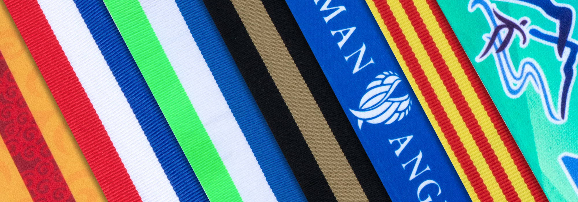 variety of colorful ribbons
