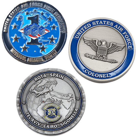 image of air force challenge coins