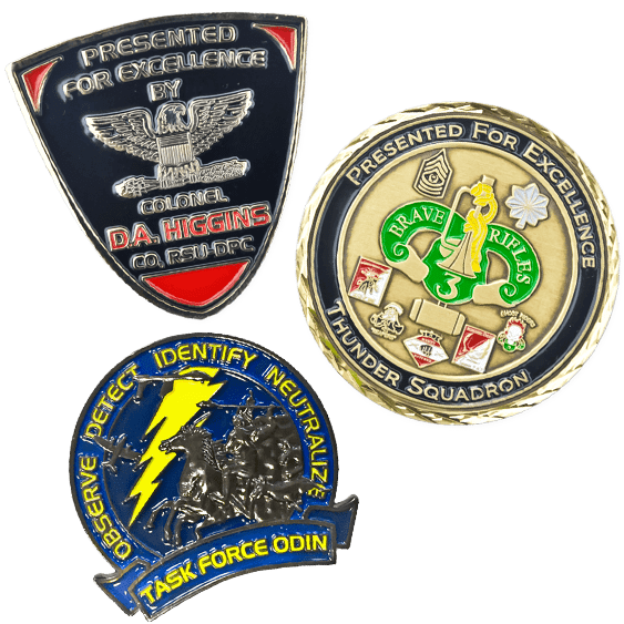 image of army challenge coins