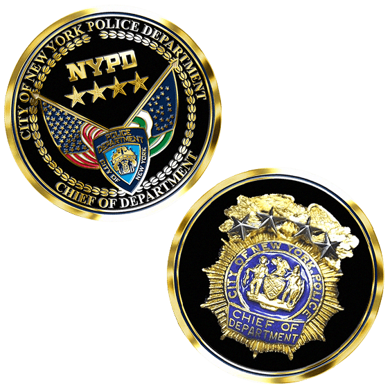 NYPD challenge coins with custom designs