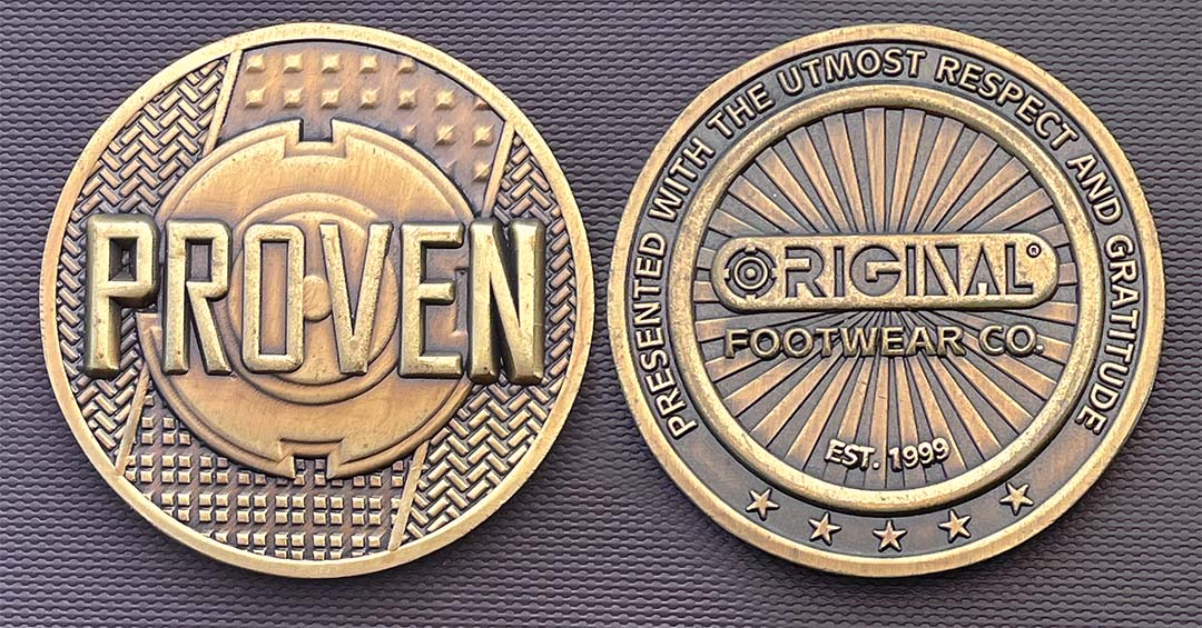 Original Footwear Employee Appreciation Coin
