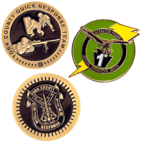 SWAT challenge coins with custom designs